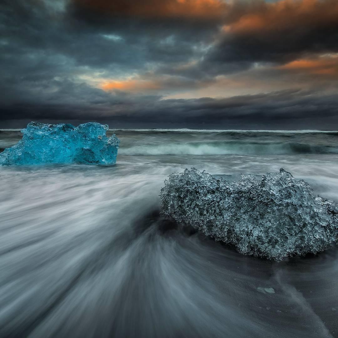 Iskrystaller i Island
