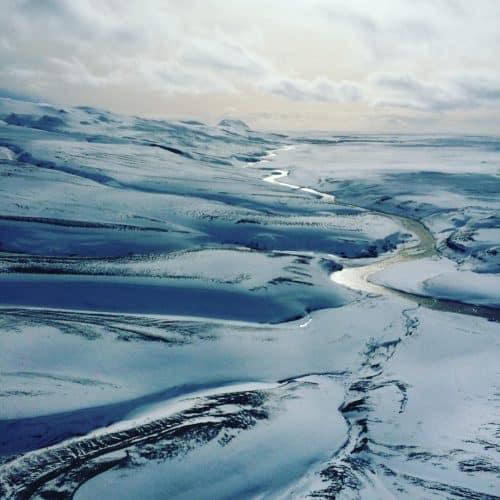 Vinterlandskab-Gletsjer-Island